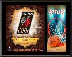 "Portland Trail Blazers Sublimated 12"" x 15"" Team Logo Plaque"