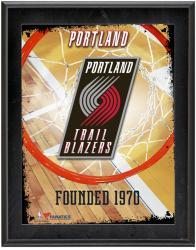 "Portland Trail Blazers Team Logo Sublimated 10.5"" x 13"" Plaque"