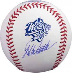 Jorge Posada New York Yankees Autographed 1999 World Series Logo Baseball -