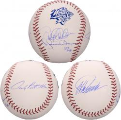 Jorge Posada, Andy Pettitte, Derek Jeter, and Mariano Rivera New York Yankees Autographed 1999 World Series Logo Baseball-Limited Edition of 48