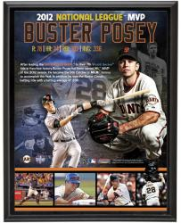 "Buster Posey San Francisco Giants 2012 NL MVP Winner Sublimated 10"" x 13"" Player Collage Photo Plaque"
