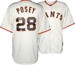 Buster Posey San Francisco Giants Autographed Majestic Replica Jersey - Mounted Memories