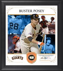 "Buster Posey San Francisco Giants Framed 15"" x 17"" Collage with Piece of Game-Used Ball"