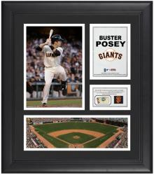 "Buster Posey San Francisco Giants Framed 15"" x 17"" Collage with Game-Used Baseball"