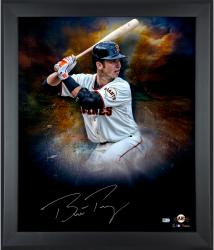 "Buster Posey San Francisco Giants Framed Autographed 20"" x 24"" In Focus Photograph-#2-24 of a Limited Edition of 25"