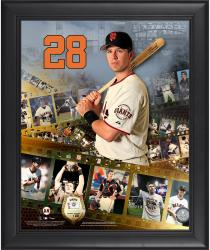 "Buster Posey San Francisco Giants Framed 16"" x 20"" Film Strip Composite with Piece of Game-Used Ball-Limited Edition of 500"