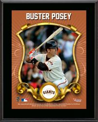"Buster Posey San Francisco Giants Sublimated 10.5"" x 13"" Stylized Plaque"