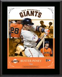"""Buster Posey San Francisco Giants Sublimated 10.5"""" x 13"""" Composite Plaque"""