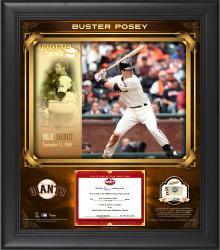 "Buster Posey San Francisco Giants Top Prospects Framed 15"" x 17"" Collage with Piece of Game-Used Baseball-Limited Edition of 99"