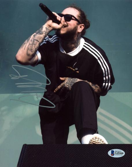 Post Malone Rapper Signed 8x10 Photo Autographed BAS #G45446