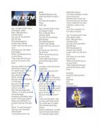 Post Malone Signed Rockstar Lyric Sheet 8.5x11 Authentic Autograph Coa