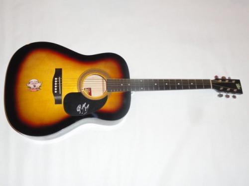 Post Malone Signed Sunburst Acoustic Guitar Rockstar Proof Autographed Jsa Coa
