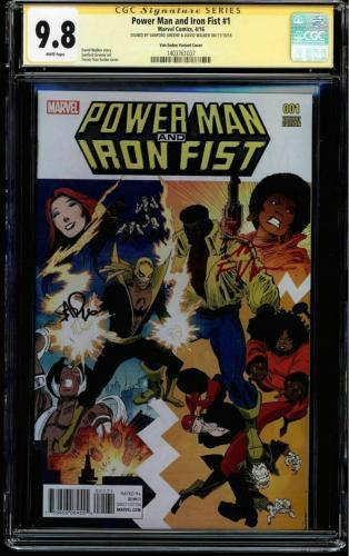 Power Man & Iron Fist #1 Cgc 9.8 Von Eeden Variant Cover Dual Sigs. #1403761037