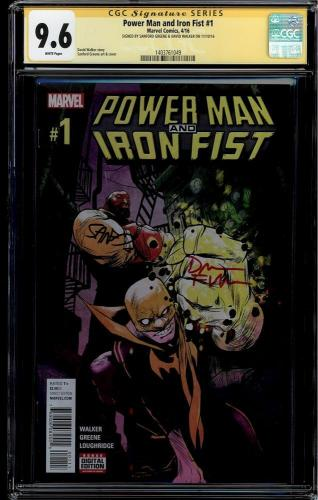 Power Man & Iron Fist #1 Cgcc 9.6 Dual Signatures Cgc #1403761049