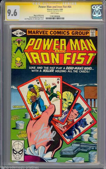 Power Man & Iron Fist #64 Cgc 9.6 W Ss Stan Lee Single Highest Graded 1191280006