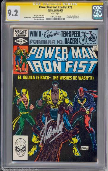 Power Man & Iron Fist #78 Cgcc 9.2 White Pages Ss Stan Lee Signed  #1191281003