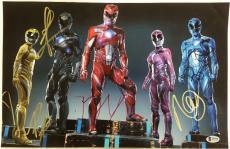 POWER RANGERS Cast (5) Signed 11x17 Photo BECKY G + NAOMI SCOTT Beckett BAS COA