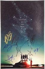 POWER RANGERS Cast (8) Signed 11x17 Photo E. BANKS + B. HADER Beckett BAS COA