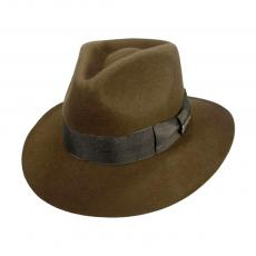 PRE-ORDER: Harrison Ford Signed Indiana Jones Officially Licensed Brown Wool Felt Fedora Hat