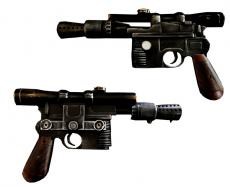 PRE-ORDER: Harrison Ford Signed Star Wars Han Solo DL-44 Replica Blaster Prop