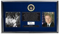 President Bill Clinton Autographed Signed Custom Photo Display AFTAL UACC RD