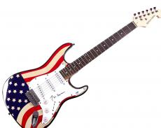 President Bill Clinton Autographed Signed USA Guitar PSA AFTAL UACC RD Hillary