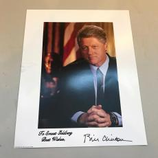 President Bill Clinton Signed Autographed 8x10 White House Photo Picture