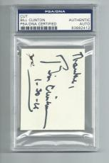 PRESIDENT BILL CLINTON signed autographed CUT SLABBED PSA/DNA ENCAPSULATED