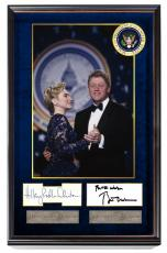 President Bill & Hillary Clinton Autographed Signed Custom Dancing Photo Display