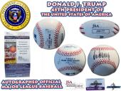 President DONALD J. TRUMP Signed Autographed OML Baseball JSA AUTHENTIC #J36177