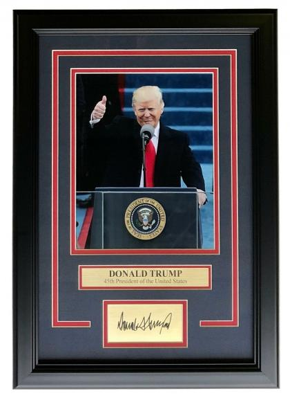 President Donald Trump Framed Republican 8x10 Photo w/ Laser Engraved Signature