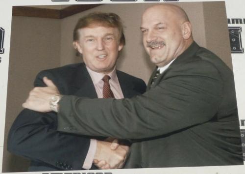 President Donald Trump & Gov Jesse Ventura 16x20 Photo WWE Wrestlemania Predator