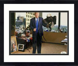 President Donald Trump Signed 8x10 Photo Standing w/ Eagle James Spence JSA LOA