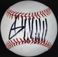 President Donald Trump Signed OML Baseball Autographed PSA #AB66244