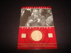 President Dwight Eisenhower 2002 Topps First Pitch Griffith Stadium Relic A17