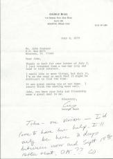 President George HW Bush Signed Autographed 1979 Letter PSA/DNA Authentic