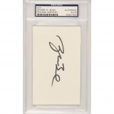 President George W. Bush Autographed Cut Signature - PSA