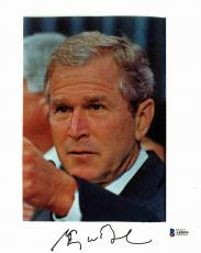 President George W. Bush Signed 8x10 Photo Autographed BAS #A85895