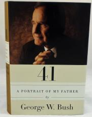 President George W Bush Signed Autographed 41 Book JSA Authentic 1st ED 1st Run