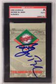 President George W. Bush Signed Texas Rangers 1993 Schedule Autographed SGC Auth