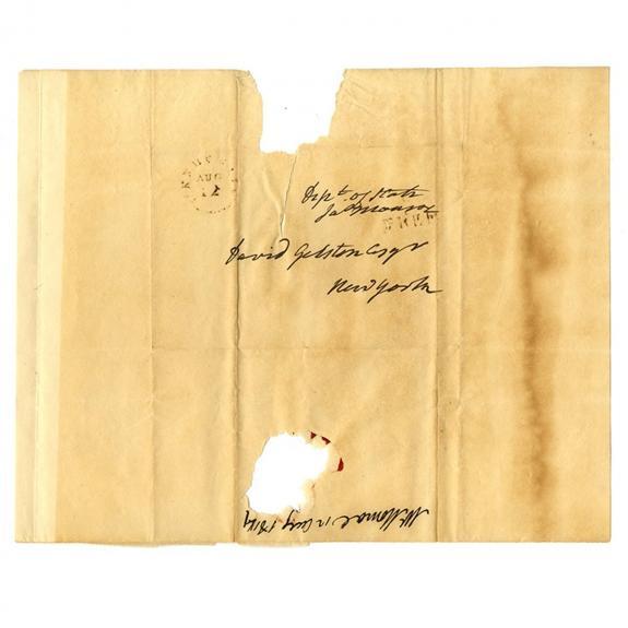 President James Monroe Signed Free Frank Envelope PSA/DNA