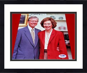 president JIMMY CARTER and ROSALYNN CARTER signed PSA/DNA 8x10 USA  LOA 3