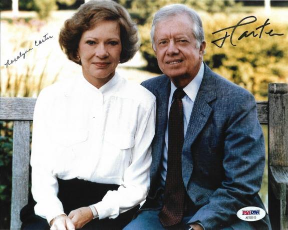 President Jimmy Carter & Rosalynn Carter Dual Signed 8x10 Photo PSA/DNA COA (B)