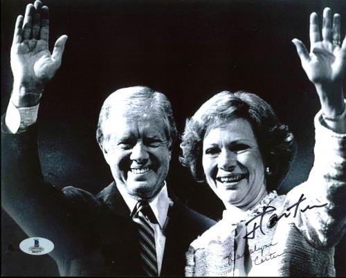 President Jimmy Carter & Rosalynn Carter Signed 8X10 Photo BAS #B04377