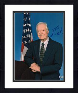 President Jimmy Carter Signed 11x14 Photo Democrat Beckett Bas Autograph Auto C