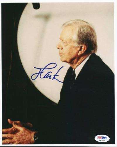 President Jimmy Carter Signed 8X10 Photo Autographed PSA/DNA #P43294