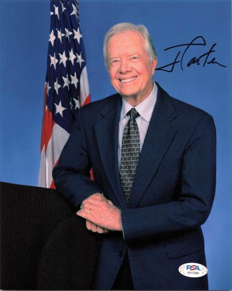President Jimmy Carter signed 8x10 Photo PSA/DNA Autographed USA