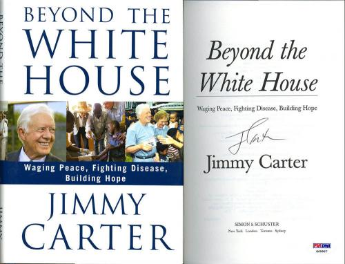 President Jimmy Carter SIGNED Beyond The White House 1st Ed PSA/DNA AUTOGRAPHED