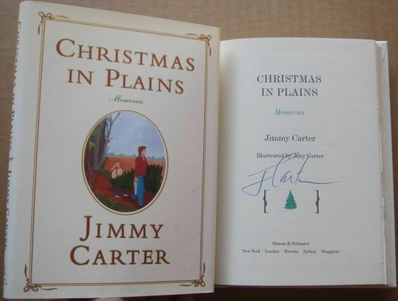 President Jimmy Carter signed Book Christmas in Plains 1st Print Beckett BAS