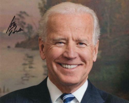 President Joe Biden Signed Autograph 8x10 Photo - Barack Obama Vice Pres Acoa